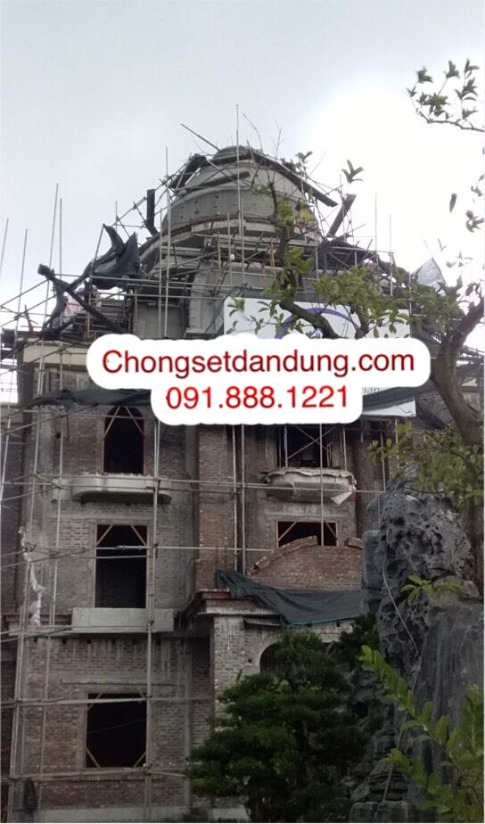 Lắp đặt chống sét nhà biệt thự tại Hưng Yên